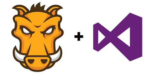 Image of Grunt + Visual Studio logos
